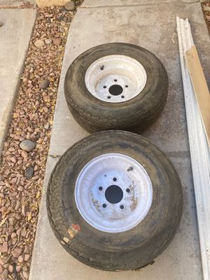Two brand new trailer tires. 20.5/8 - 10 for Sale in Las Vegas, NV