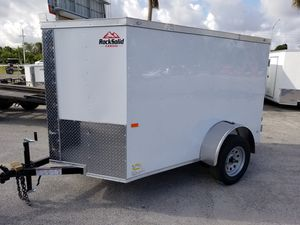 New Rock Solid Cargo 5x8 with barn doors for Sale in West Palm Beach, FL
