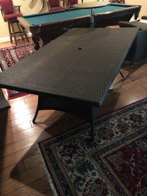 Outdoor plastic table with 6 chairs for Sale in Haymarket, VA
