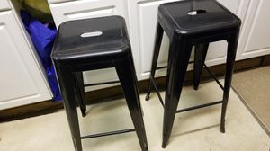 Metal one piece Bar stools two for 20 bucks for Sale in Moon, PA