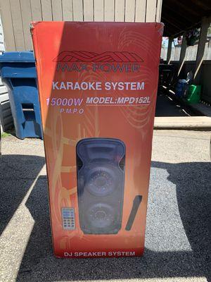 "karaoke max power 15000 w doble 15"" for Sale in Bedford Park, IL"