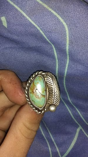 Native silver and turquoise ring size 5 for Sale in Portland, OR