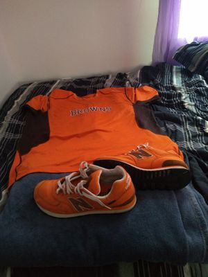 Nice Nike dri fit browns jersey shirt size 3x and matching new balance size 11 shoes exclusive deal for the low for Sale in Cleveland, OH