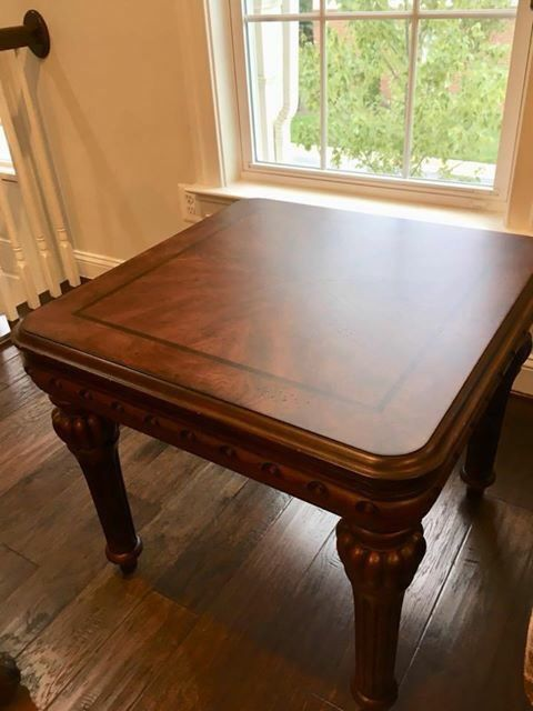 Beautiful Wood Coffee Table and End Table