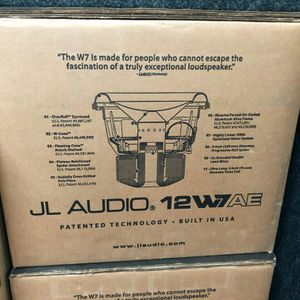 Jl audio 12w7ae on special today get the loudest sub around today for Sale in Los Angeles, CA
