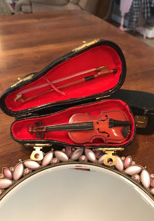 Adorable Miniature Wooden Violin with case for Sale in Gainesville, VA