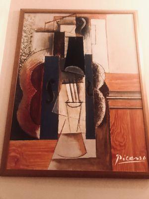 Pablo Picasso Violin and Guitar framed print for Sale for sale  Langhorne, PA