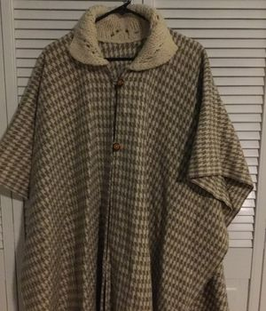 Woman's size s wool blend button wrap with fringed hem for Sale in Citrus Heights, CA