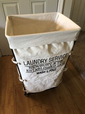Rolling Heavy Duty Canvas Laundry Bag for Sale in Spring, TX