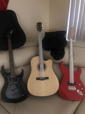 electric and acoustic guitars for Sale in Las Vegas, NV