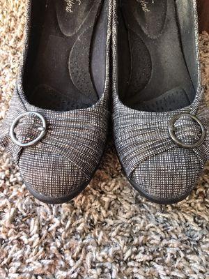 Black wedge heels for Sale in Sunnyvale, CA