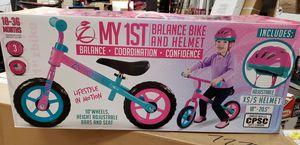 NEW Girls My1ST Balance Bike & Helmet: njft kids for Sale in Burlington, NJ