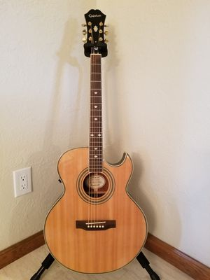 2010 Epiphone PR-5E Florentine Acoustic / Electric Guitar with Hardshell Case for Sale in Woodburn, OR