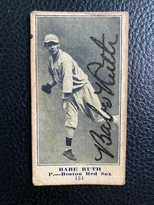 Babe Ruth 1915 The GLOBE #151 ROOKIE CARD AUTOGRAPH!!Unknown/Reprint for Sale in NJ, US