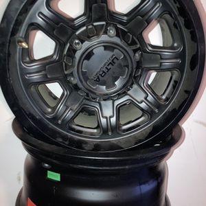 "ULTRA menace 15x7"" - 6 hole Lug Pattern , 8 Spoke Satin Black Rims for Sale in Monterey, CA"