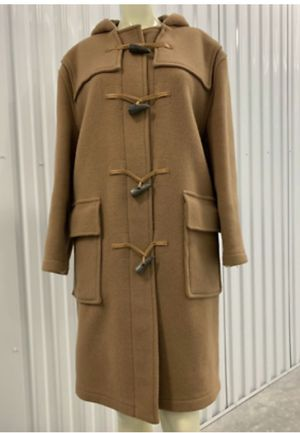 Authentic Tan Burberry Peacoat Wool Horn-Toggle Coat Made In England Sz. XS/S for Sale in Massapequa, NY