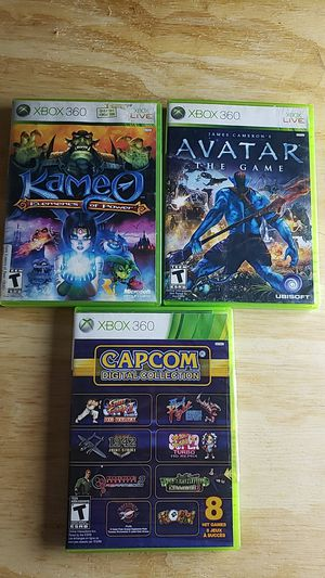 Xbox 360 Games 3 Pack Kameo Elements of Power, Avatar The Game, CapCom Digital collection for Sale in Burlington, VT