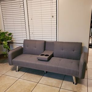 Sofa-Living Room Fabric Couch. Futon/sofa bed for Sale in North Tustin, CA
