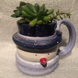 Mr. Snowman Ceramic Cup With Succulent Plants 🎄🤶🏽 for Sale in Bakersfield, CA
