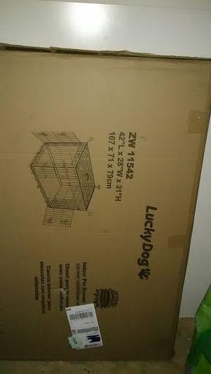 42 in. Dog cage still in box for Sale in Evansville, IN