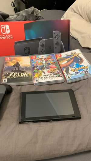 Nintendo Switch + 3 games for Sale in Irving, TX