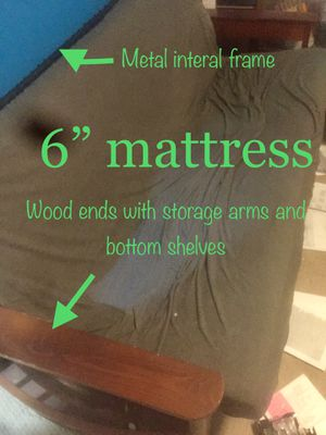 Futon frame and mattresses for Sale in Charlotte, NC