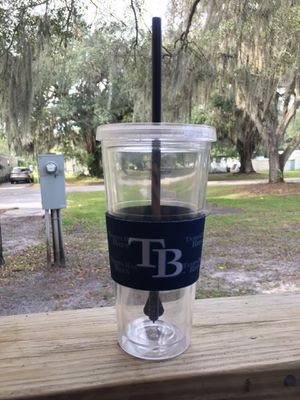 20 oz MLB/RAYS Drinking Cup with Straw for Sale in Bartow, FL