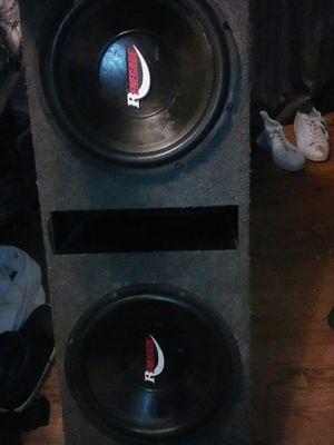 2 12inch renegade car speakers for Sale in Detroit, MI