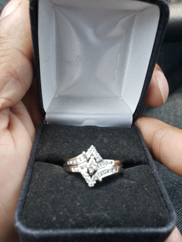 14k white gold Half carat Diamond Ring
