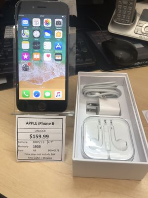 iPhone 6 unlocked 16gb for Sale in Fort Worth, TX