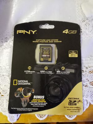 PNY 4GB NATIONAL GEO BONUS DOWNLOAD for Sale in East Haven, CT