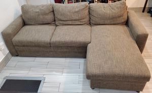 L shape sectional couch with storage and pull out couch for Sale in Brooklyn, NY