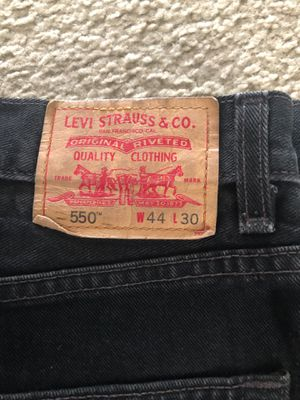 550 Levi Strauss black color jeans for Sale in Aurora, CO