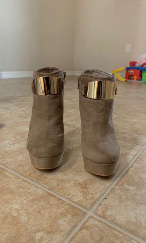 Aldo Suede Boots Heels -Beige for Sale in Mount Plymouth, FL