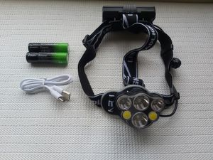 Hunting 6X XM-L T6 White Red LED USB Headlamp Headlight Flashlight Torch for Sale in San Diego, CA