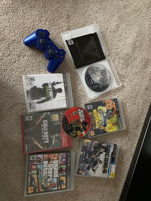 PS3 controller and games for Sale in Glen Burnie, MD