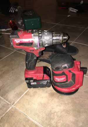 Power drill and palm sander with 1 battery for Sale in Denver, CO