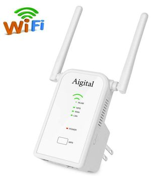 WiFi Extender 300Mbps Wireless Repeater Long Range Signal Booster Access Point/Repeater/Router Mode (2 Antennas, 2 Ethernet Port, One-Button Setup) E for Sale in Glendora, CA