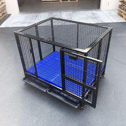 "New $160 Heavy-Duty Dog Cage 41x31x34"" Single-Door Folding Kennel w/ Plastic Tray for Sale in Whittier,  CA"