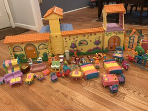 Dora's pop up talking house with lots of figurines and furniture for Sale in Rockville, MD