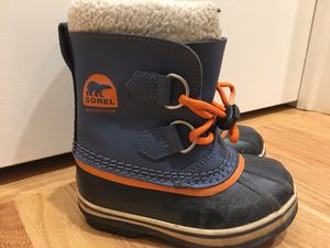 Sorel children boots Yoot PAC waterproof snow Kids Size 10 for Sale in HOFFMAN EST, IL