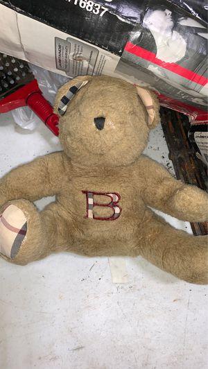 Burberry Stuffed teddy bear for Sale in Evergreen Park, IL