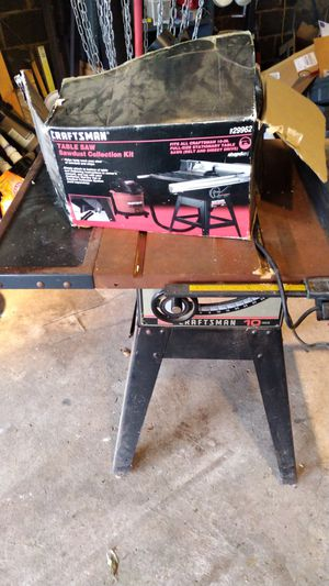 Sears Craftsman 10 inch table saw with dust collector for Sale in Eddington, PA