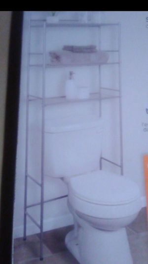 Brand New in box polished pewter 3 shelve over the toilet storage rack for Sale in Santa Ana, CA