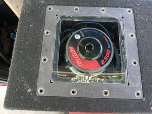 """Brand new 12 """" power acoustik sub in custom aluma pro plexy real glass cover for Sale in Campbell, CA"""