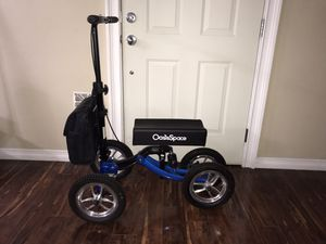 OasisSpace Shock Absorber All Terrain Knee Walker Scooter-with 12 Inches Wheels for Sale in Los Angeles, CA