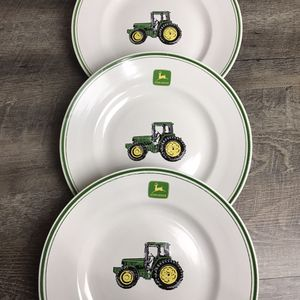 "John Deere Tractor 11"" Dinner Plates set of 3 Gibson Dinnerware for Sale in Rancho Cucamonga, CA"