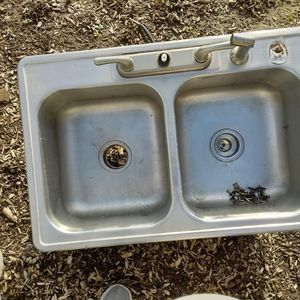Drop-in Stainless Steel Sink With Faucet for Sale in Keizer, OR