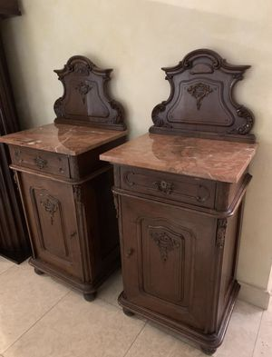 Set of rare antique tables / nightstands for Sale in Fort Lauderdale, FL