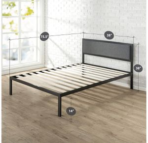Twin Metal frame bed with headboard for Sale in Mamaroneck, NY